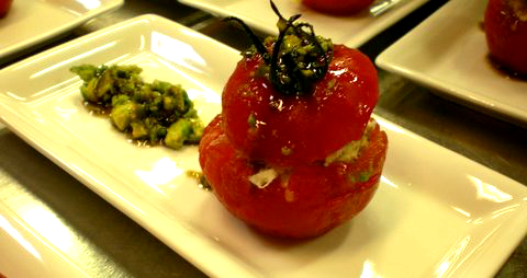 tomate farcie au crabe recette
