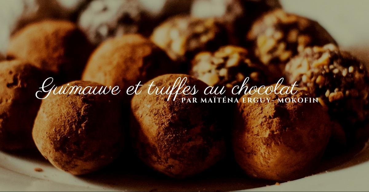 Guimauve et truffes au chocolat
