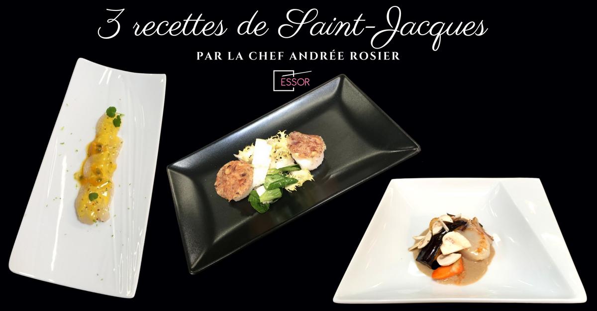 Recettes Saint-Jacques Andree Rosier