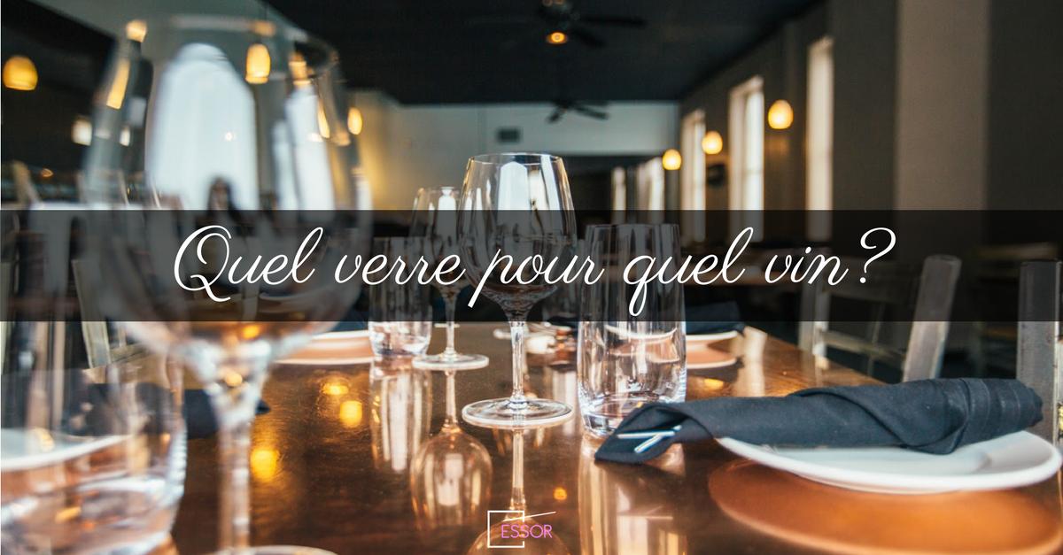 Quel verre pour quel vin essor for Quel vin rouge pour cuisiner