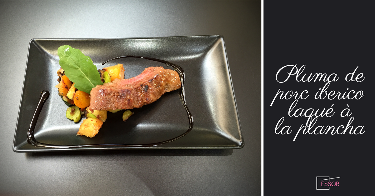 Cuisine la plancha pluma de porc iberico laqu et - Plancha de cuisine ...