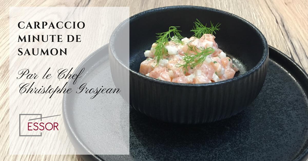 Essor recette carpaccio saumon