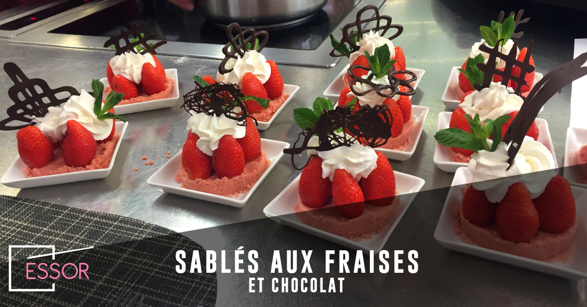 Recette : sablés aux fraises et chocolat